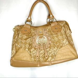 Baby Phat Satchel in Tan w/ Gold Accents